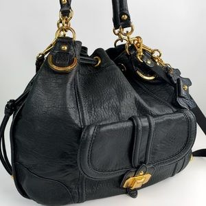 Juicy Couture Black Sheep Leather Large Satchel